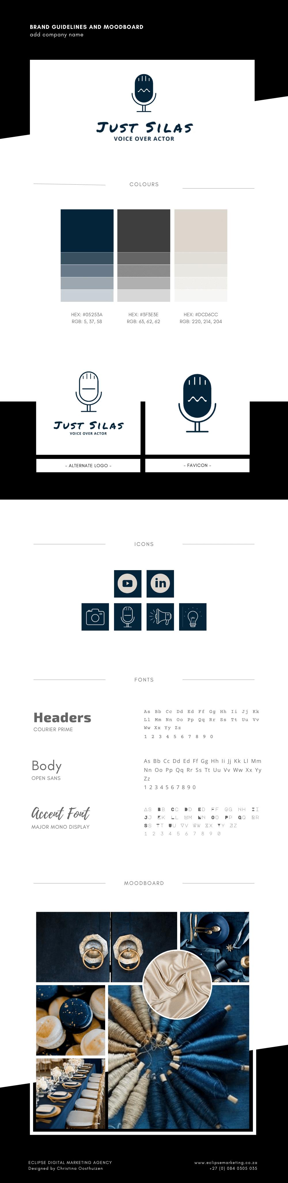 Eclipse Digital Marketing Agency - Just Silas Brand Board
