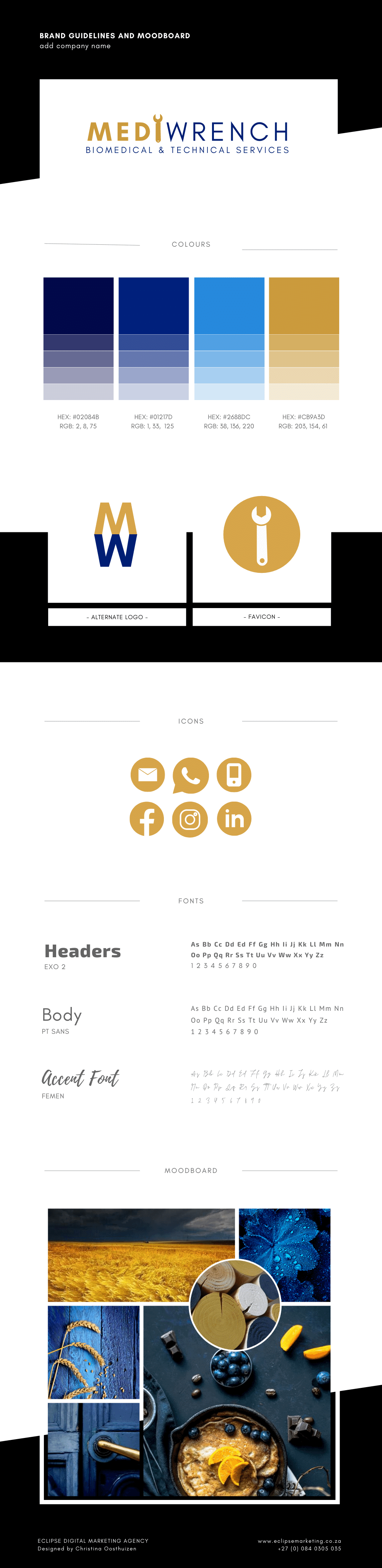 Eclipse Digital Marketing Agency - Mediwrench Brand Board (Final)