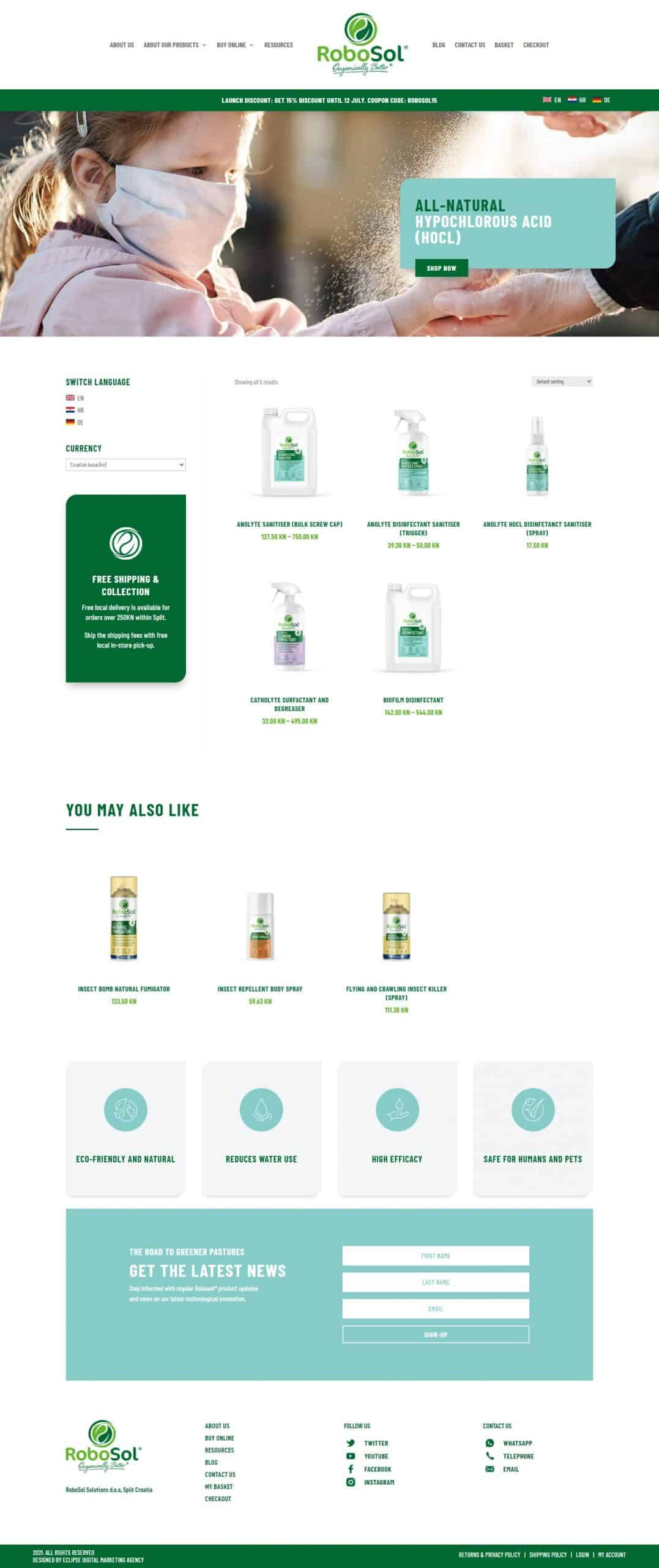 Eclipse Digital Marketing Agency - RoboSol Shop Page